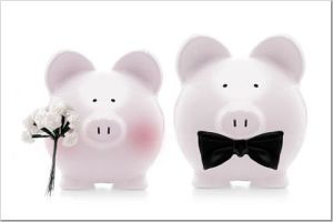 Wedding budget piggybanks